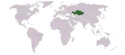 카자흐스탄지도