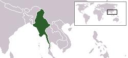 미얀마지도